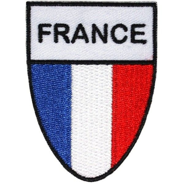 """Country of """"France"""" National Flag Shield Patch French Tricolour... ($4.95) ❤ liked on Polyvore featuring home, kitchen & dining and kitchen gadgets & tools"""