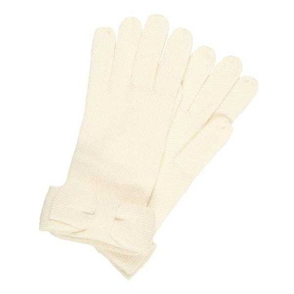 kate spade new york HALF BOW GLOVE Fingervantar ❤ liked on Polyvore featuring accessories, gloves, kate spade, cream gloves, kate spade gloves and bow glove