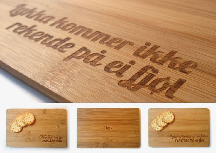 * leik: Årets julegave! Bamboo cuttingboards.