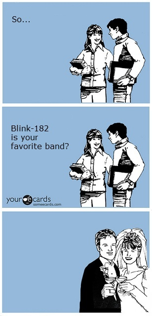 :) BLINK 182 Marriage!