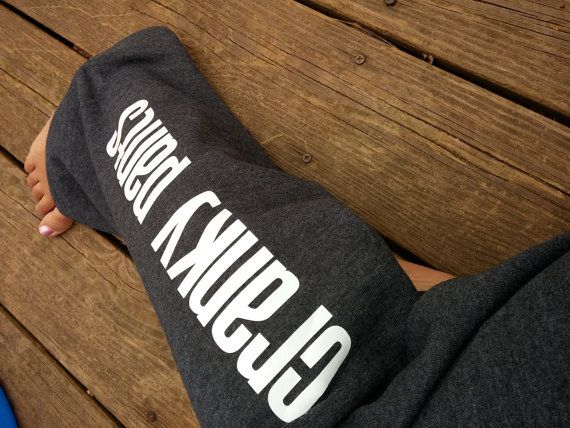 CRANKY PANTS, SWEATPANTS  Hey, I found this really awesome Etsy listing at https://www.etsy.com/listing/181284831/limited-quanity-introductory-price