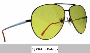 Oversized Yellow Lens Shooters Sunglasses - 200C