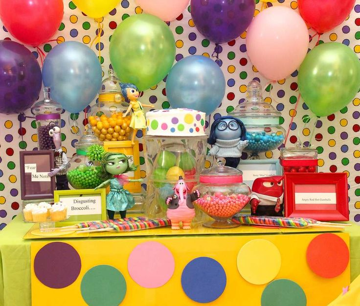Inside Out Birthday Party Ideas | Photo 1 of 46 | Catch My Party