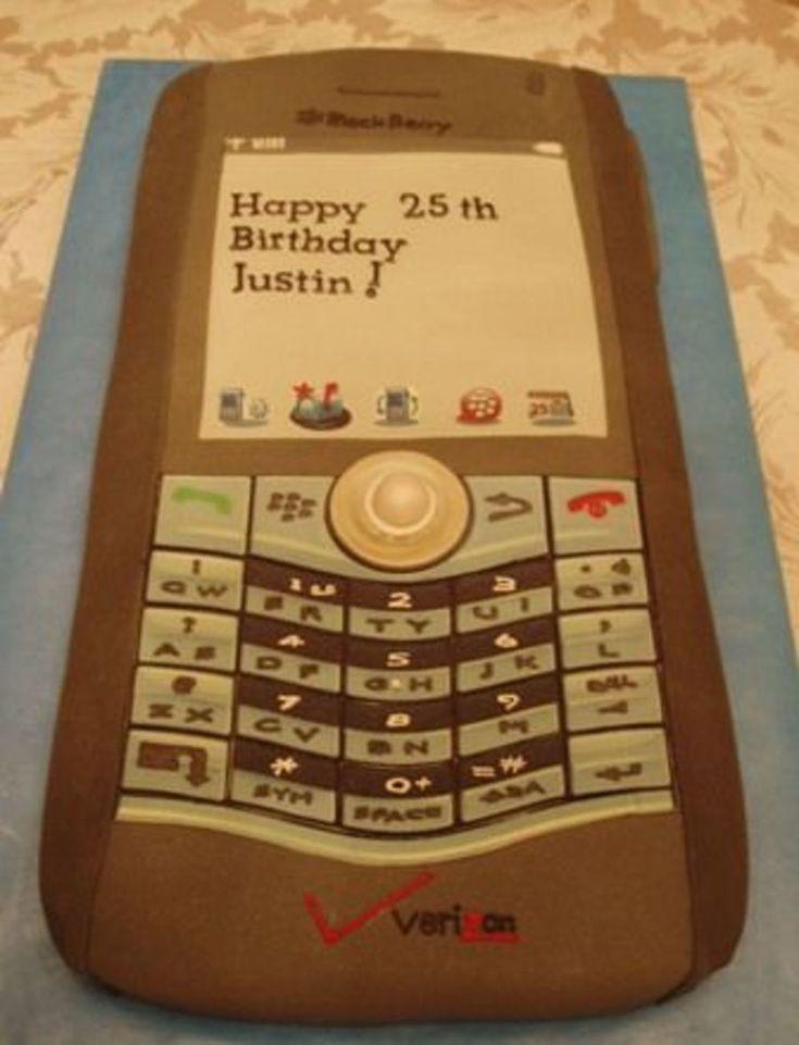 Justin's Verizon Blackberry Pearl on Cake Central