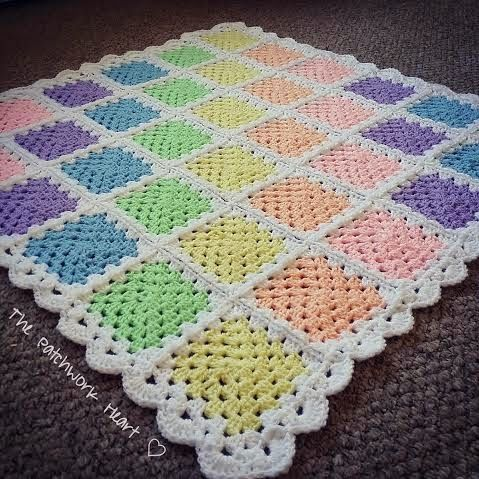 The Patchwork Heart Granny Square Tutorial 1 Crochet