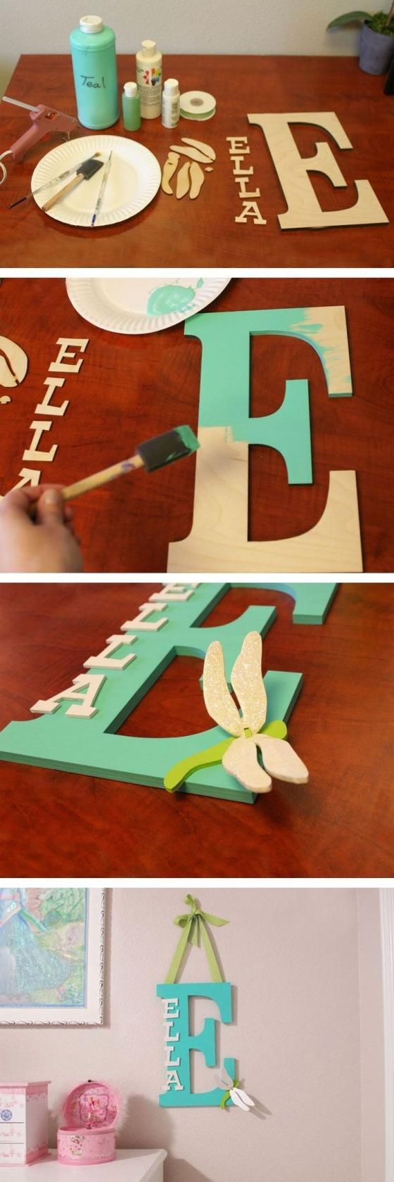 Letter ideas for girls' room