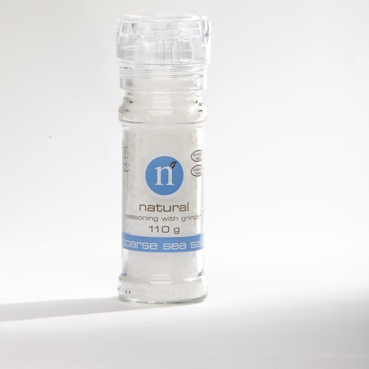 Coarse sea salt grinder