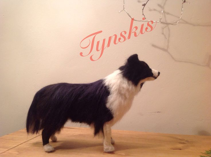 Needle felted border collie by Janet nowotynski.