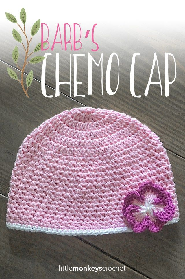 Barb's Chemo Cap Crochet Pattern  |  Free chemo hat crochet pattern by Little Monkeys Crochet
