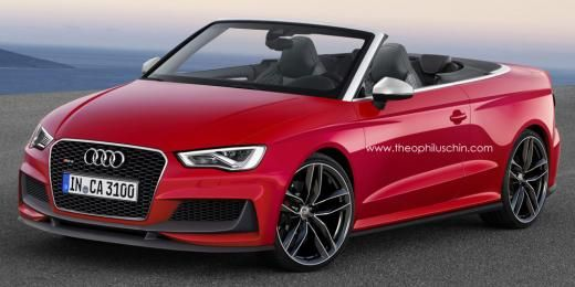 Audi RS3 Cabrio gets rendered