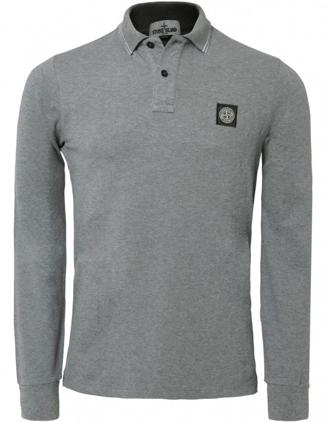 Long sleeve polo shirt by Stone Island