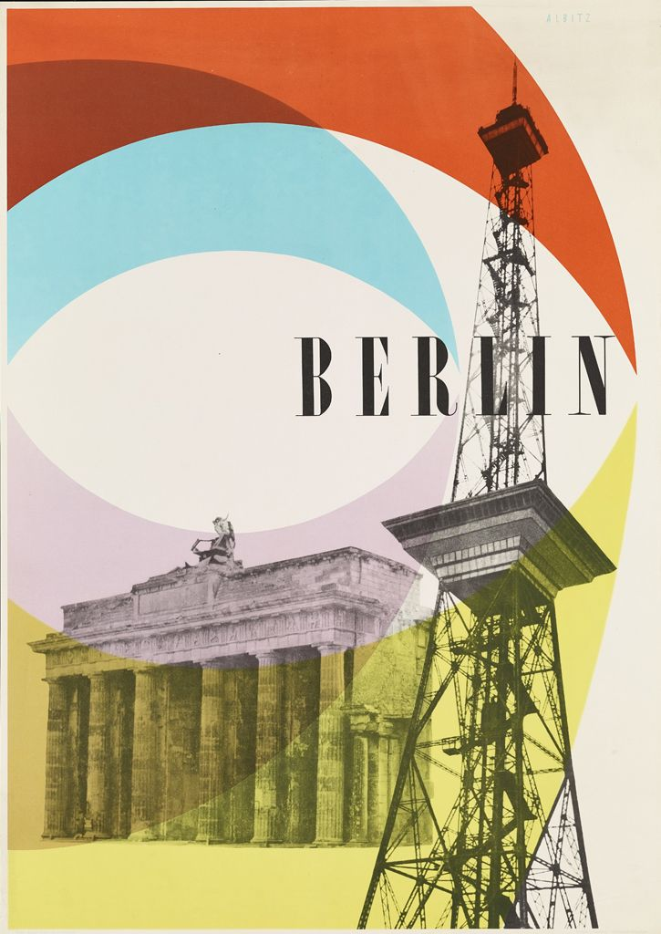 Berlin, Germany vintage travel poster by Hans and Ruth Albitz, 1952