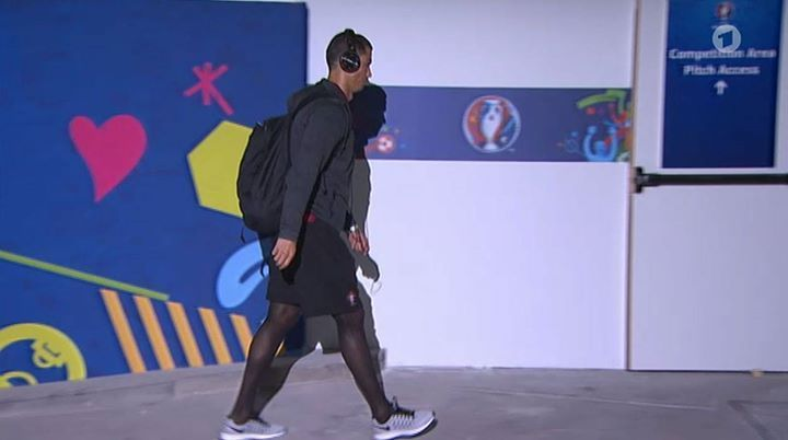 Ronaldo's tights --  C. Ronaldo was spotted once wearing semi-opaque black tights, but that time it was not... read more on Tights.fun!