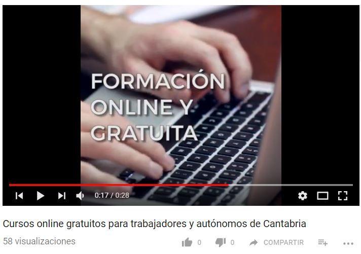 Cursogratis Online Para Trabajadores Y Autónomos De Cantabria Formación Online Youtube Cursillo