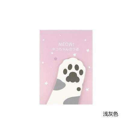 3 Pcs Cat Paw Sticky Notes Sticker