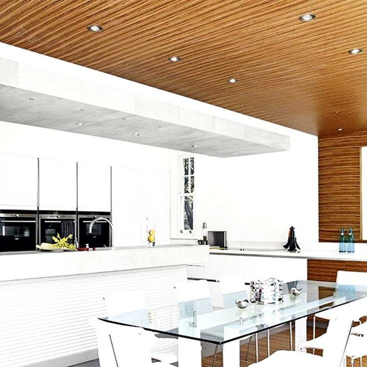 25 White And Wood Kitchen Ideas: Zebrano Wood And White Kitchen Designs