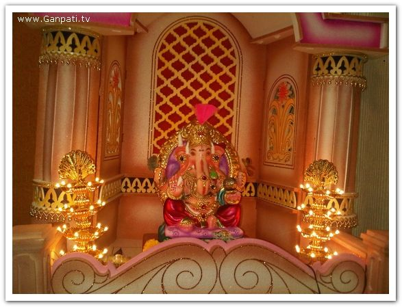 Ganpati Decoration Ideas For Home : Ganpati decoration makhar home decorating ideas pictures