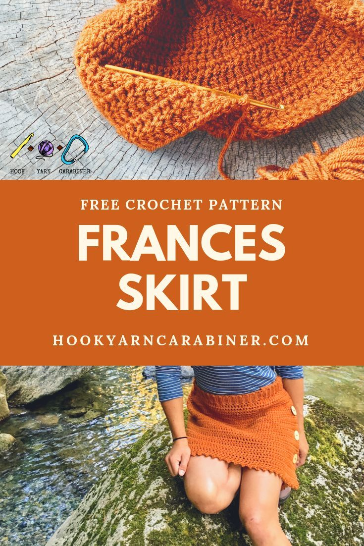 Free crochet pattern: Frances Skirt. This rust colored skirt is ...