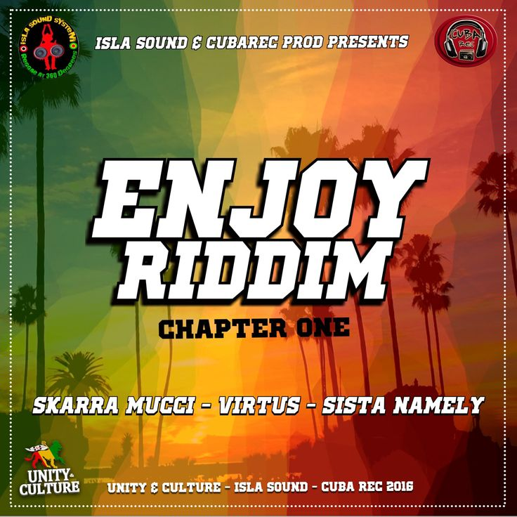 "B R A N D  N E W  R E L E A S E S  On the ""Enjoy Riddim chapter one"" produced by ISLASOUND and CUBA REC feat SKARRA MUCCI - VIRTUS - SISTA NAMELY! OUT ON OCTOBER ,3 2016 available on app store! #RIDDIM Riddim Reggae David Soriano Sardinia Reggae Festival #NewRootsRiddim #skarramucci #VirtuS #SistaNamely #reggae #raggamuffin #islasound #sardiniareggae #EnjoyRiddim2016"
