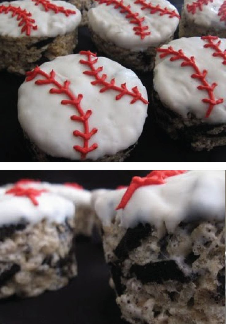 This chocolaty Rice Krispies treat is the perfect dessert for a baseball themed party or can be adapted to any other sport your kids love!