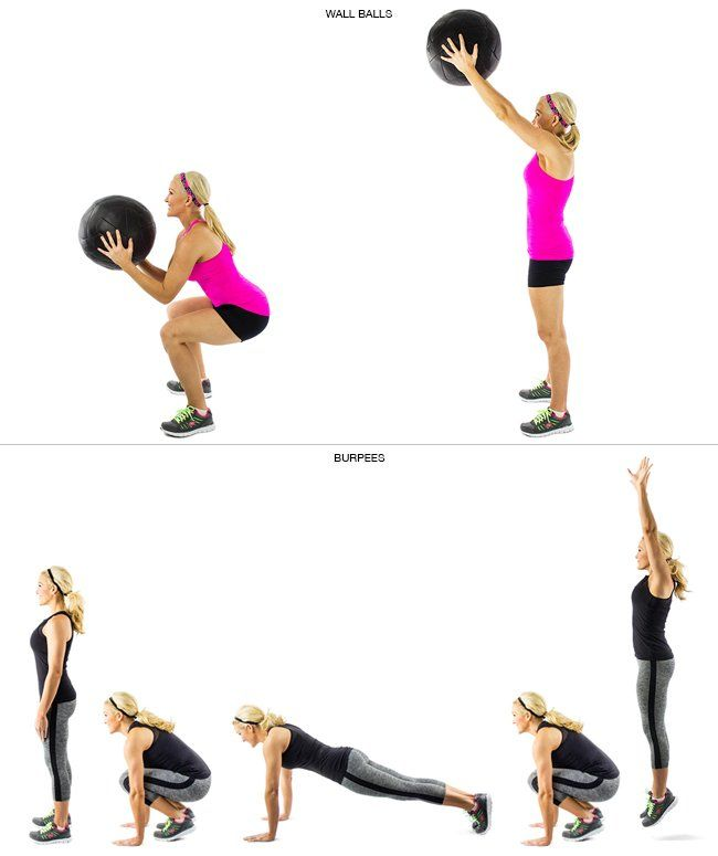 Gym Ball Watson: Crossfit Workout Of Wall Balls And Burpees