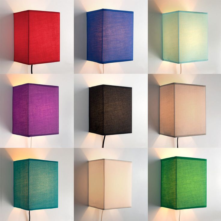 Modern plug-in wall lights in a choice of 9 colour options. These superb and practical wall lights make a great, easy-fit addition to bedrooms, lounges, dining rooms and kitchens. They are equipped with a cable, plug and on/off switch, meaning there is no need for wiring installation, hiring an electrician, or fiddly DIY. | eBay!