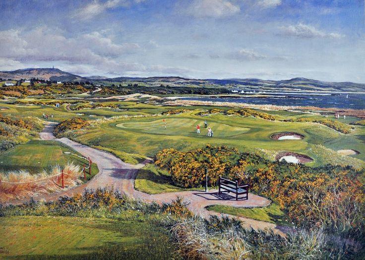 Donald Shearer Royal Dornoch Signed Limited Edition Print 10x14 | Scottish Contemporary Art