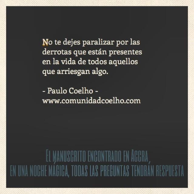 La #Derrota, en el #ManuscritodeAccra de @Paulo Fernandes Fernandes Fernandes Coelho - Más, en www.comunidadcoelho.com y en www.instagram.com/comunidadcoelho