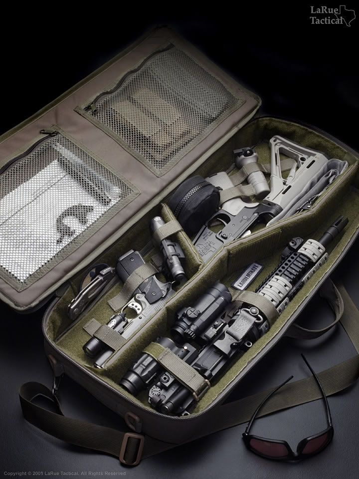 LaRue Tactical - breakdown rifle case. One of best examples of a soft-hard case.