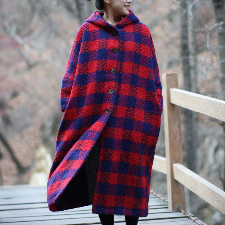 Купить Осень зима новый плед шерстяное пальто для женщин 2016 свободно Большой размер с длинным рукавом утолщенный кардиган вязаный с капюшоном воротник шерстяное пальтои другие товары категории Шерсть и сочетанияв магазине Johnature StoreнаAliExpress. металл с покрытием и пальто малыша