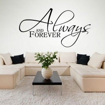 Lovely Always And Forever Italic Wall Stickers Love Quotes Wall Art Decal   Love  Quotes   Wall