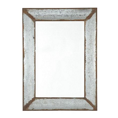 "Zinc Framed Mirror. $189 Wall: 36 3/4"" X 26 3/4"" X 1 1/2""D Wall Mirrored Area: 27 1/8"" X 17 3/8"" Wall Mirror Frame: 4 3/4""W Wall Mirror Bevel: 1""W"