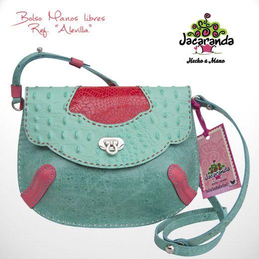 ALEVILLA: bolso Jacaranda, en cuero, hecho a mano. #bag #leatherbag