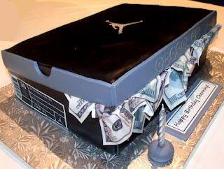 Air Jordan shoe box cake! So cool!