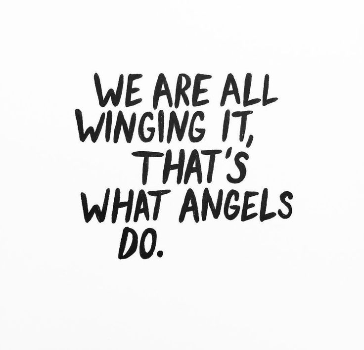 Wing it! Quote by @amberibarreche. ;-D