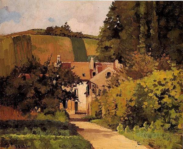 Rue à Pontoise Camille Pissarro