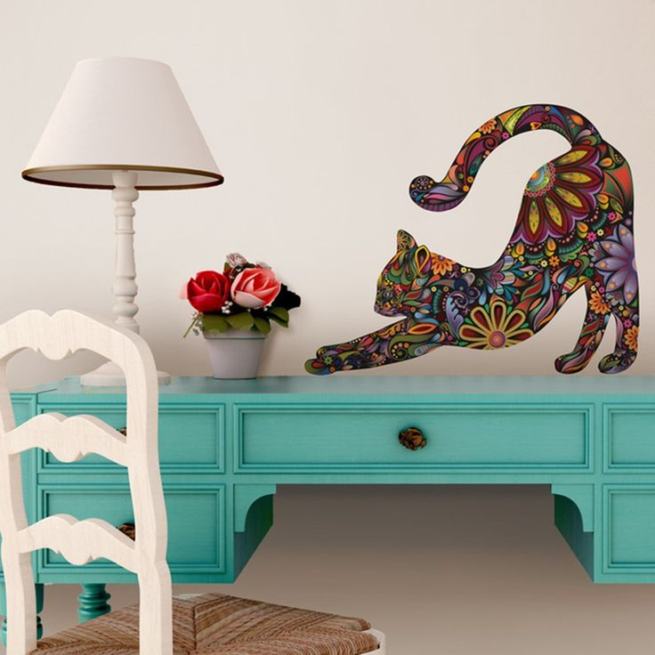 Image of: Contemporary Cat Wall Decals