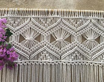 Macrame wedding backdrop runner macrame wall hanging by WallKnot
