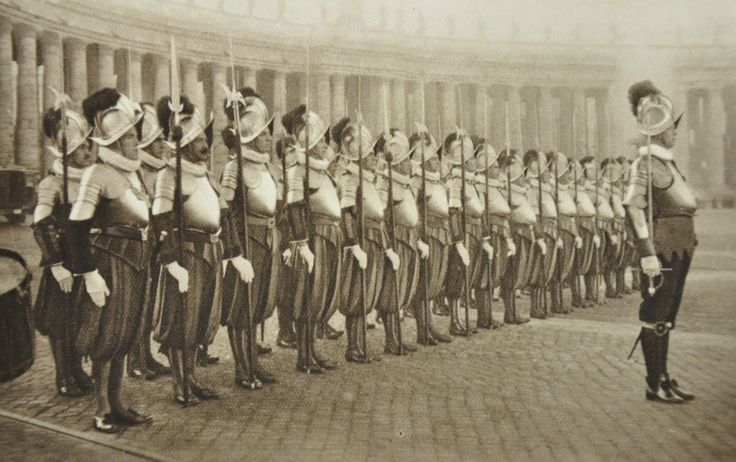 Swiss guard -Vatican City...in the past