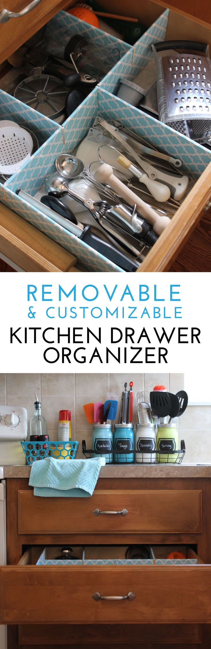 How to Make a Customizable Kitchen Drawer Organizer