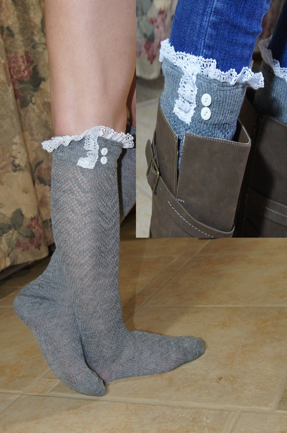 Lace Boot Socks Leg Warmers High Knee Socks Lace Boot by Eastalace, $26.00