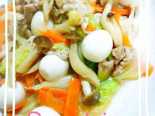 白菜と豚肉の中華あんかけ♪の画像
