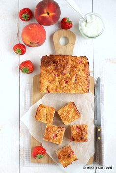 Havermout yoghurt cake met perzik - Mind Your Feed