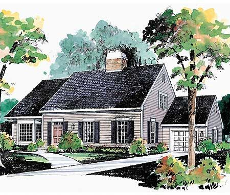 78 best images about house plans 32 feet deep or less on for Cape cod garage