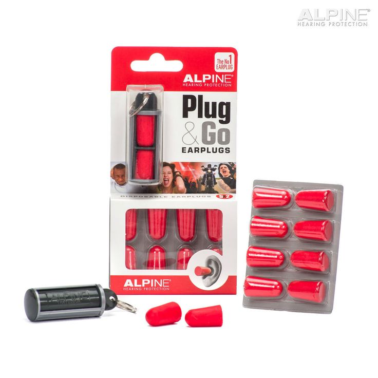 EarPlugs Alpine Plug&Go Soft Foam Ear Plugs Reusable 5 Pairs Sleep Travel Kids