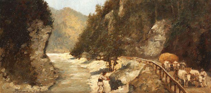 Ludovic Bassarab, Care cu boi pe Valea Oltului