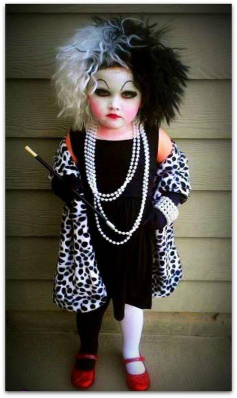 DIY Halloween Costume Ideas fr kids - Cruella Deville Tutorial. #halloween