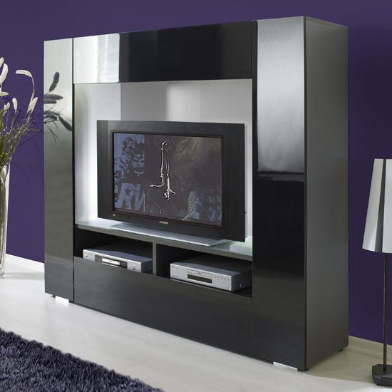Stylus TV Stands Furniture In High Gloss Black 6180 05