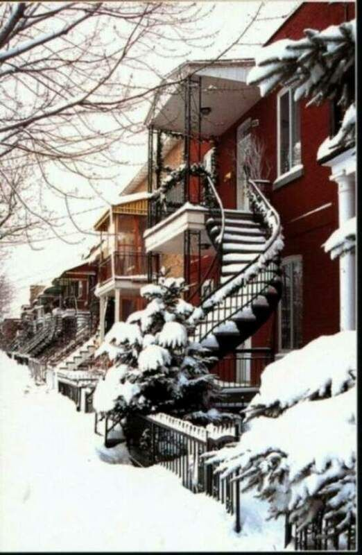 Winter in Montreal: this looks like the street my Grandmama lived on 4TH Ave Rosemont ......