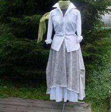 Купить №139.1 Льняная юбка бохо - юбка бохо, юбка в стиле бохо